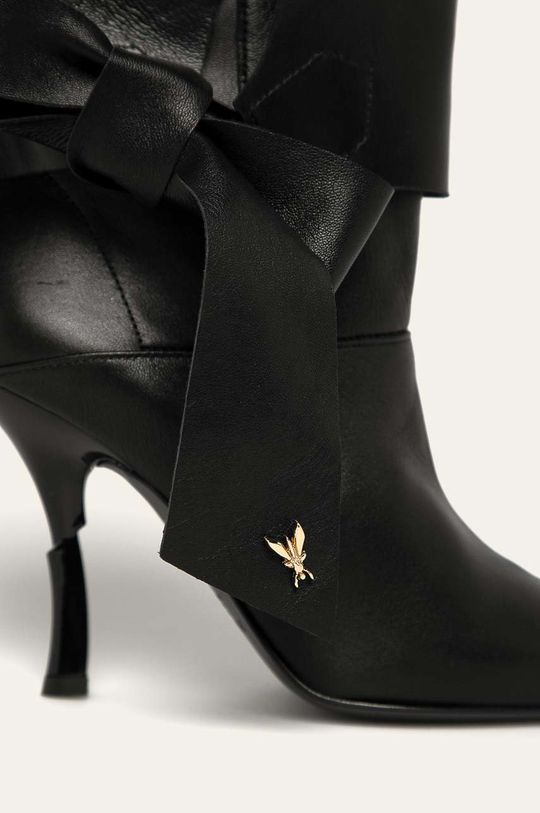 černá Patrizia Pepe - Kožené kotníkové boty