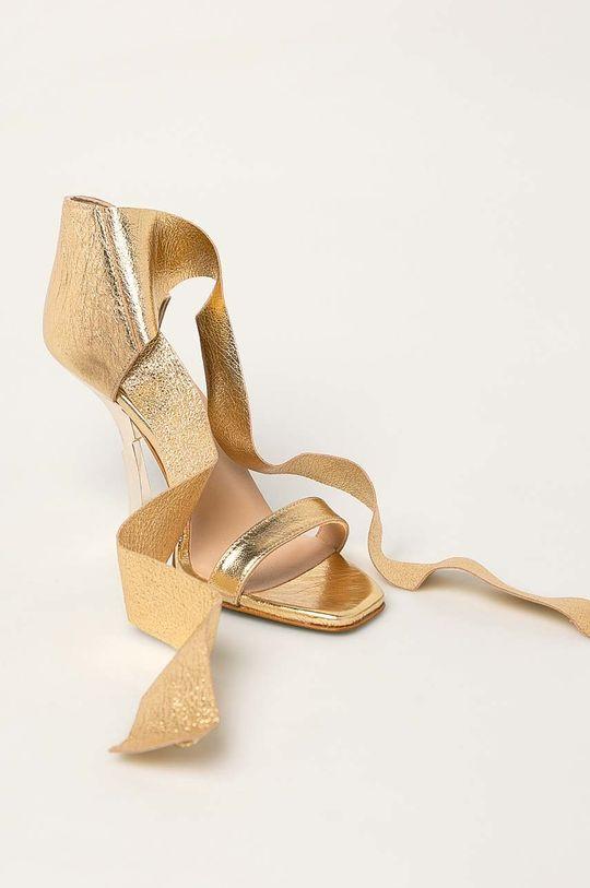Patrizia Pepe - Kožené sandály zlatá