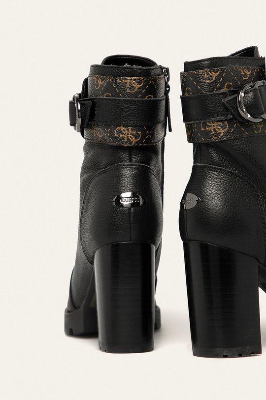Guess Jeans - Kožené členkové topánky  Zvršok: Syntetická látka, Prírodná koža Vnútro: Syntetická látka, Textil, Prírodná koža Podrážka: Syntetická látka