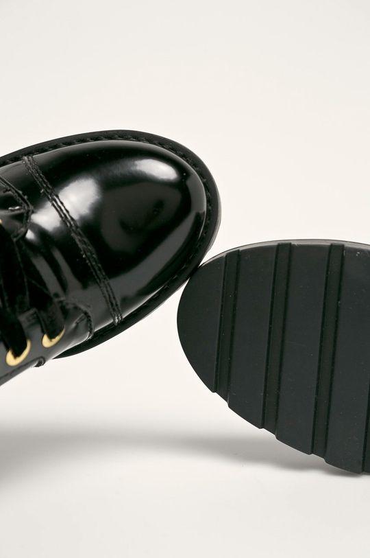 černá Guess Jeans - Nízké kozačky