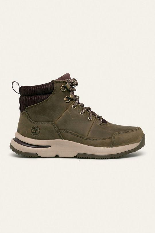 šedá Timberland - Kožené kotníkové boty Mabel Town Dámský