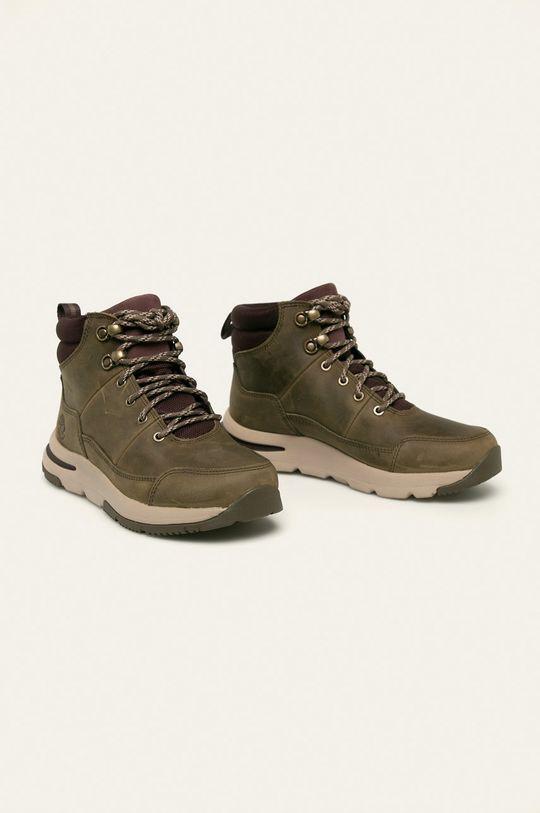 Timberland - Kožené kotníkové boty Mabel Town šedá