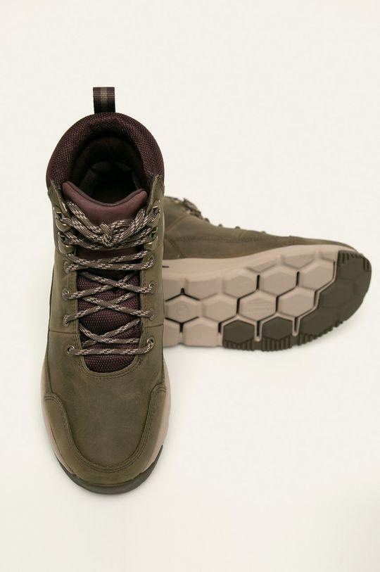 šedá Timberland - Kožené kotníkové boty Mabel Town