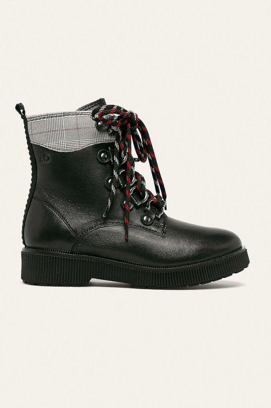 čierna s. Oliver - Členkové topánky Dámsky