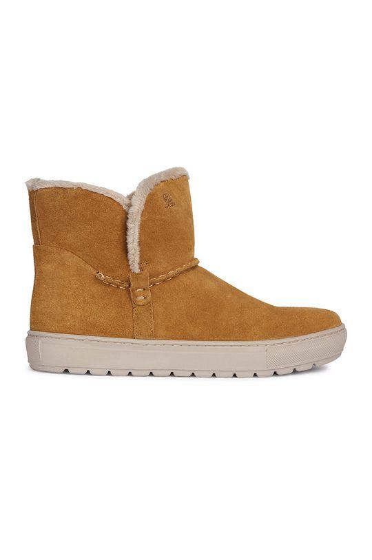 zlatohnedá Geox - Členkové topánky Dámsky