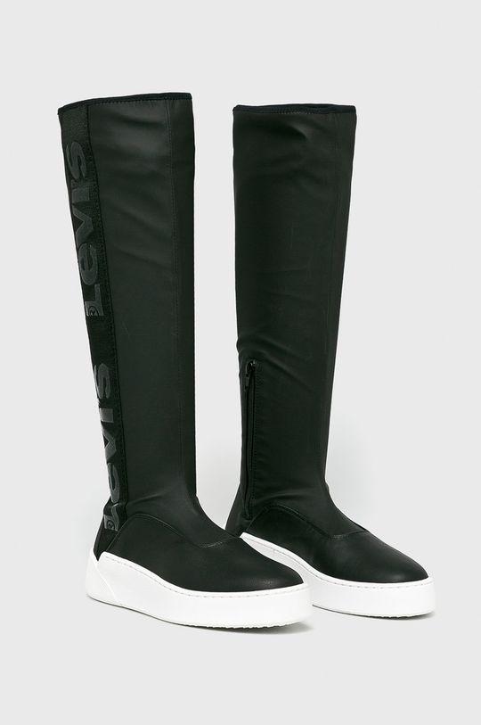 Levi's - Vysoké čižmy čierna