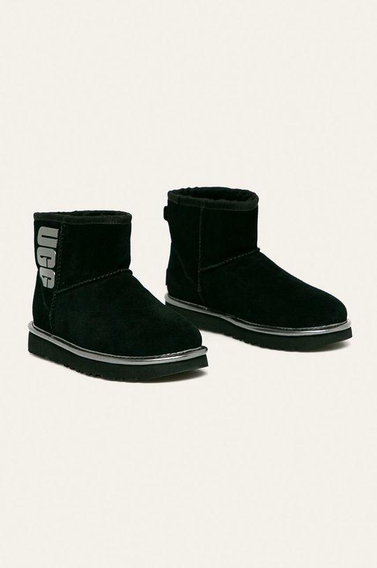 UGG - Členkové topánky W Classic Mini Ugg Rubber Logo čierna