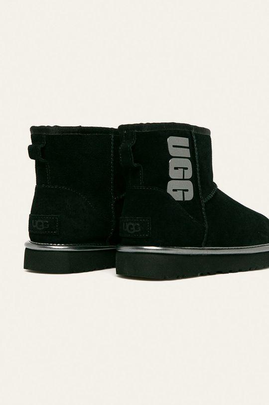 UGG - Členkové topánky W Classic Mini Ugg Rubber Logo  Zvršok: Prírodná koža Vnútro: Vlna Podrážka: Syntetická látka