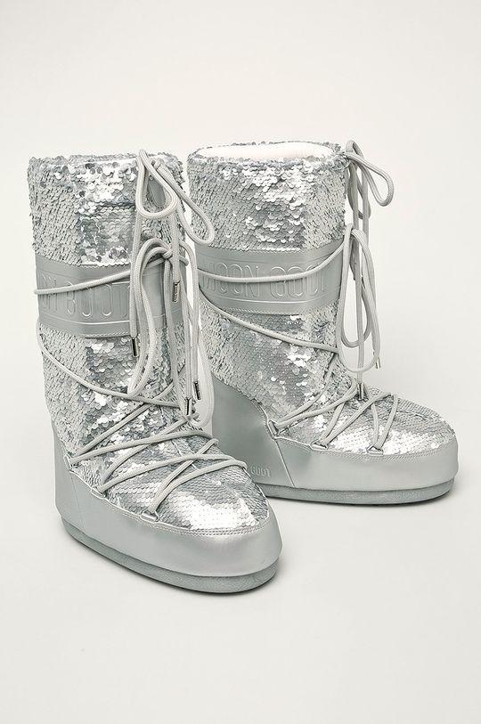 Moon Boot - Cizme de iarna Classic Disco argintiu