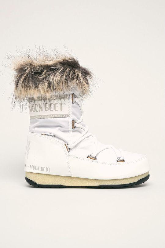 biały Moon Boot - Śniegowce Monaco Low WP 2 Damski