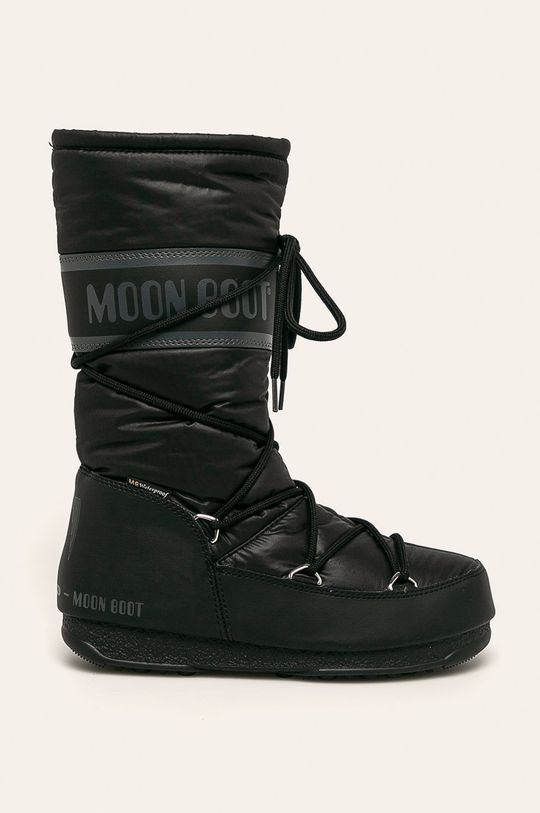 czarny Moon Boot - Śniegowce High Nylon WP Damski