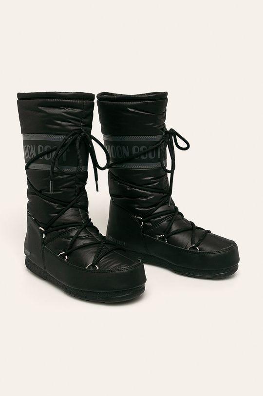 Moon Boot - Śniegowce High Nylon WP czarny