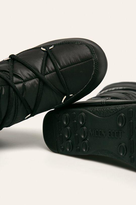czarny Moon Boot - Śniegowce High Nylon WP