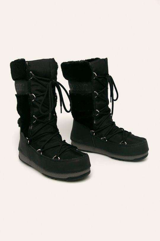 Moon Boot - Cizme de iarna Monaco Fur WP negru