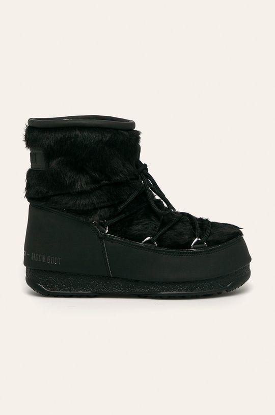 čierna Moon Boot - Snehule Monaco Low Fur Wp 2 Dámsky