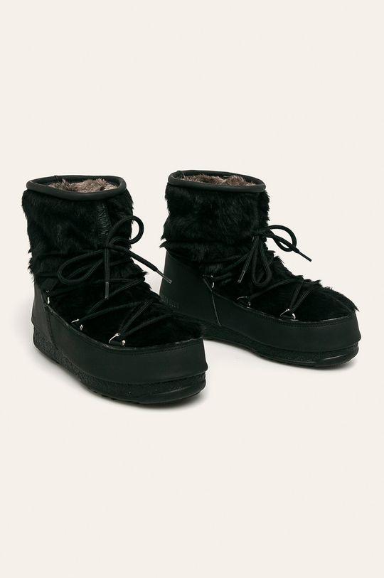 Moon Boot - Śniegowce Monaco Low Fur Wp 2 czarny