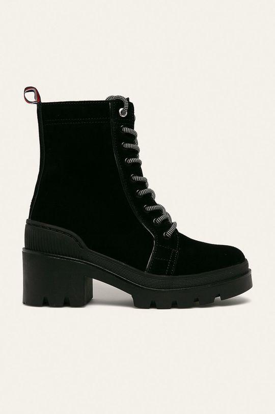 чорний Tommy Hilfiger - Шкіряні черевики Жіночий