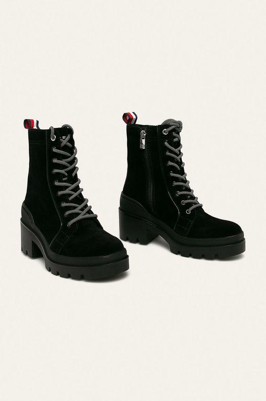 Tommy Hilfiger - Шкіряні черевики чорний