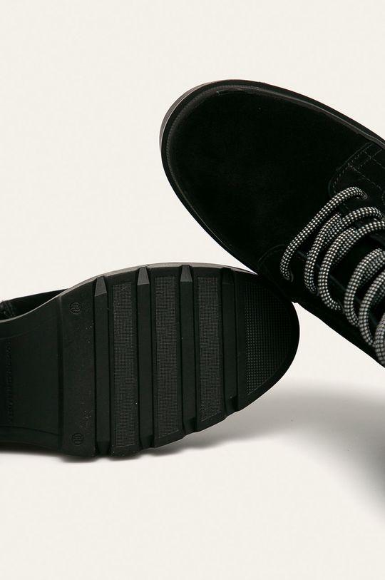 чорний Tommy Hilfiger - Шкіряні черевики