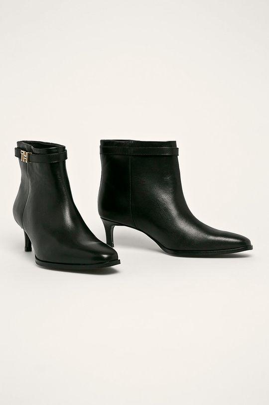 Tommy Hilfiger - Členkové topánky čierna