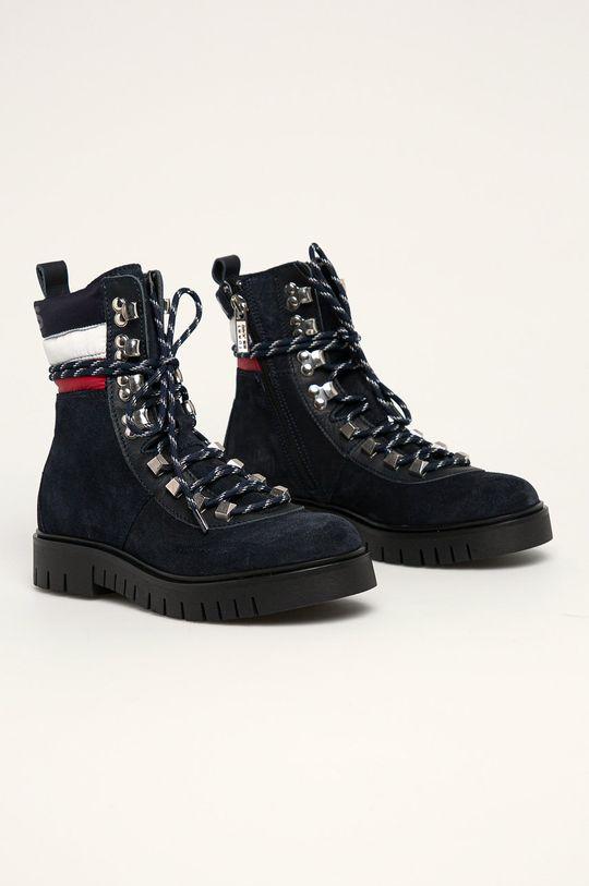 Tommy Jeans - Черевики темно-синій