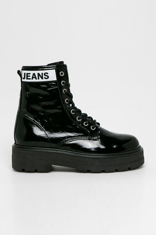 czarny Tommy Jeans - Botki Damski