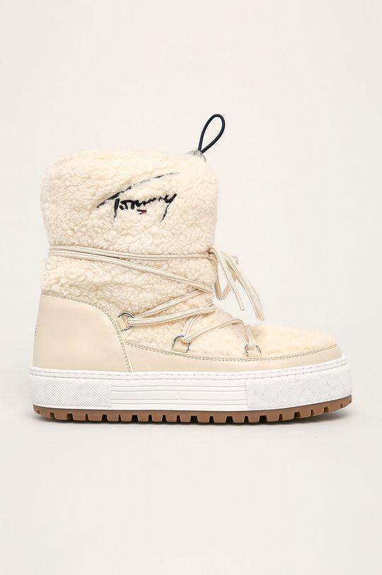 кремовий Tommy Jeans - Зимові чоботи Жіночий
