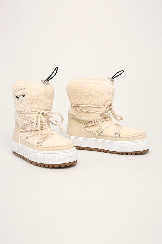 Tommy Jeans - Зимові чоботи кремовий