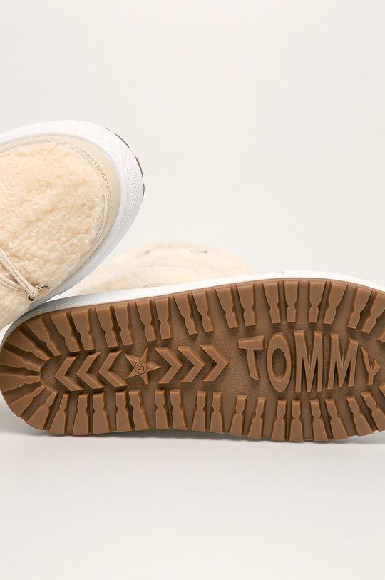 кремовий Tommy Jeans - Зимові чоботи