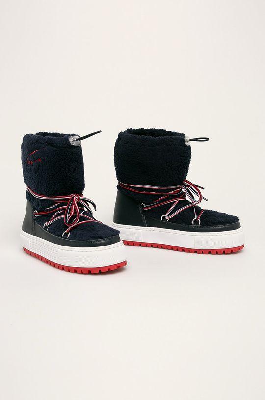 Tommy Jeans - Зимові чоботи темно-синій