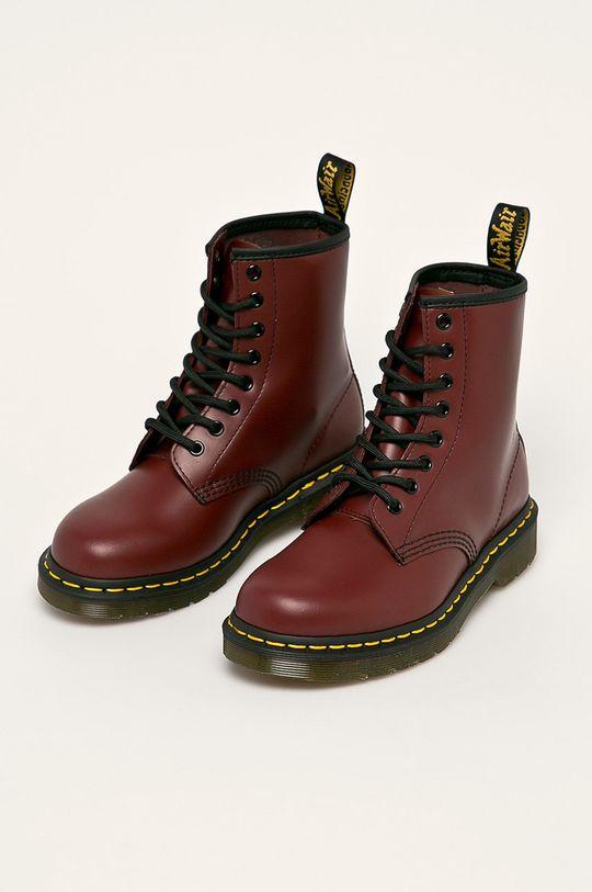 Dr Martens - Členkové topánky gaštanová