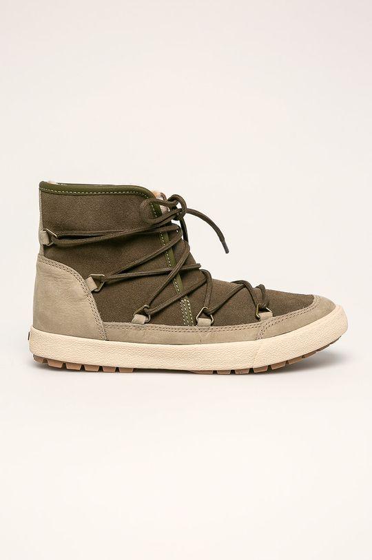 svetlá olivová Roxy - Členkové topánky Dámsky