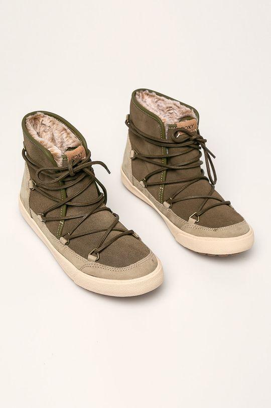 Roxy - Členkové topánky svetlá olivová