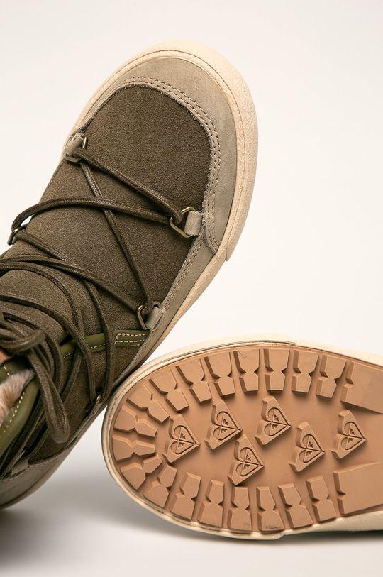 svetlá olivová Roxy - Členkové topánky