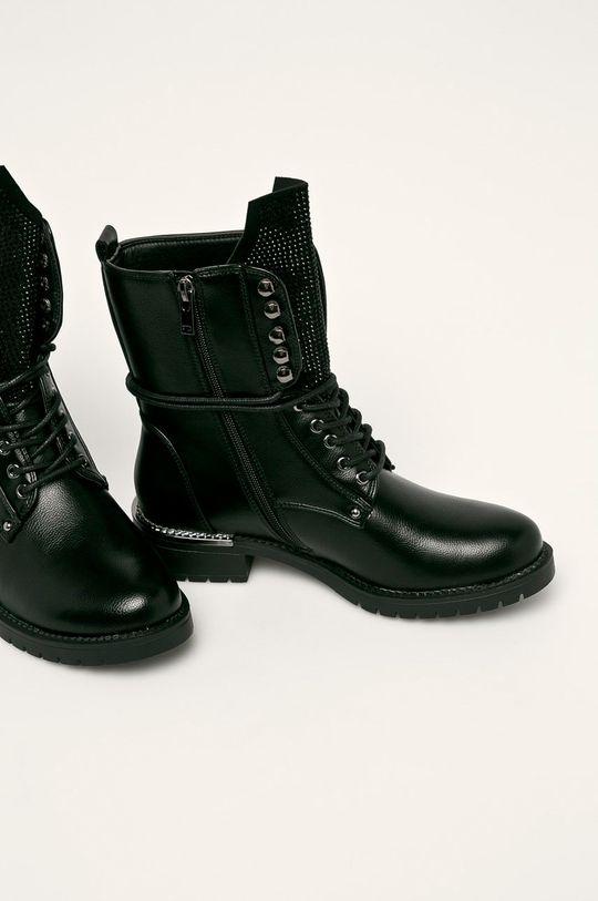 Cross Jeans - Nízké kozačky černá