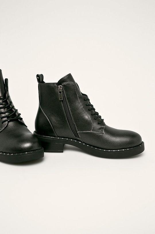 Cross Jeans - Členkové topánky sivá