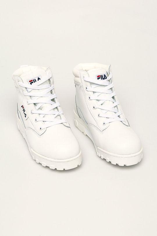 Fila - Buty skórzane Grunge II L Mid biały