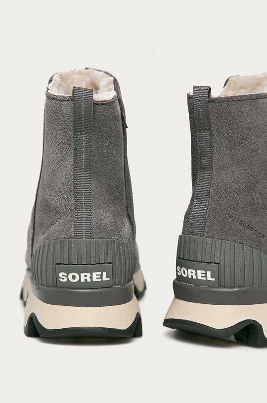 Sorel - Botki Kinetic Short Cholewka: Skóra zamszowa, Wnętrze: Materiał tekstylny, Podeszwa: Materiał syntetyczny
