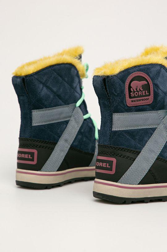 Sorel - Sněhule Glacy Explorer Shortie  Svršek: Textilní materiál, Přírodní kůže Vnitřek: Textilní materiál Podrážka: Umělá hmota