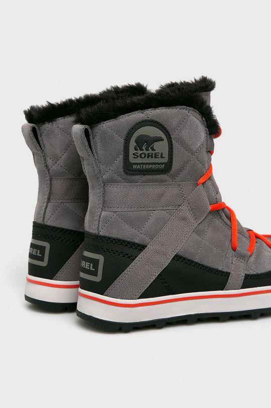 Sorel - Śniegowce Glacy Explorer Shortie Cholewka: Materiał tekstylny, Skóra naturalna, Wnętrze: Materiał tekstylny, Podeszwa: Materiał syntetyczny