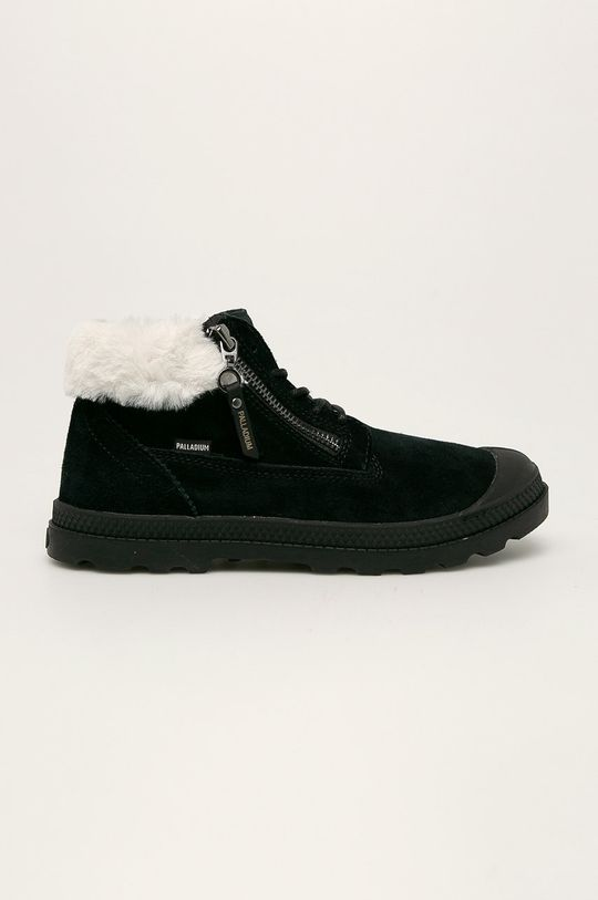 černá Palladium - Kožené kotníkové boty Dámský