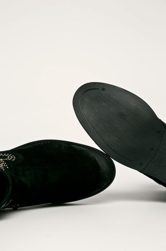czarny Badura - Botki skórzane