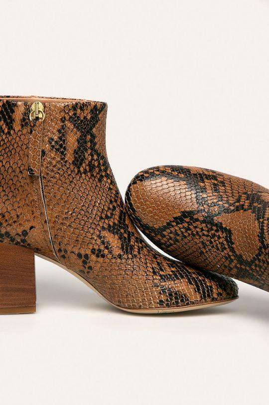 zlatohnedá Twinset - Kožené členkové topánky