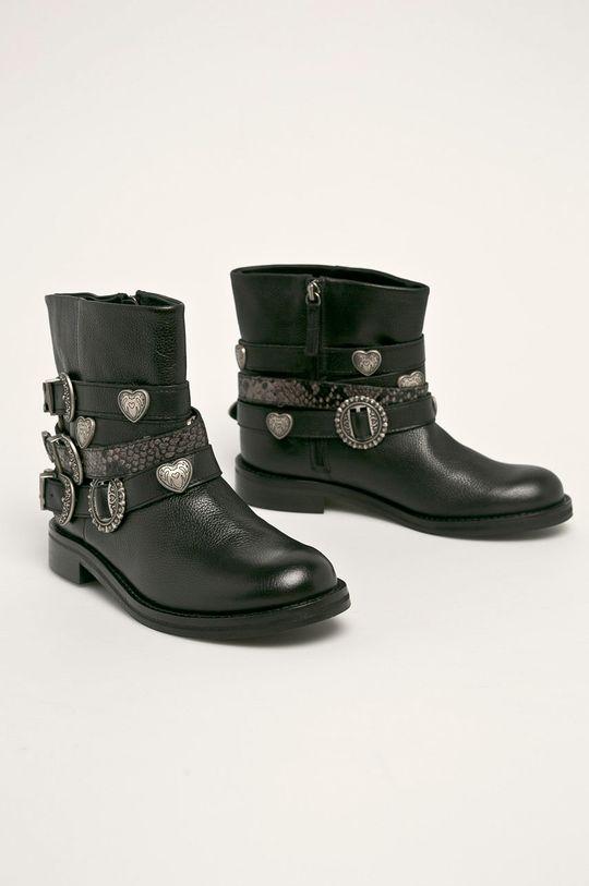 Twinset - Cizme de piele negru