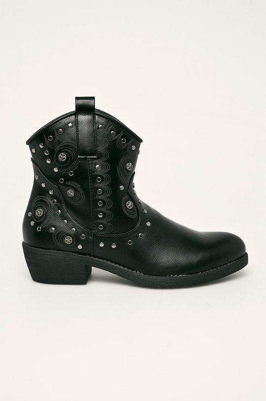čierna Haily's - Kovbojské topánky Dámsky