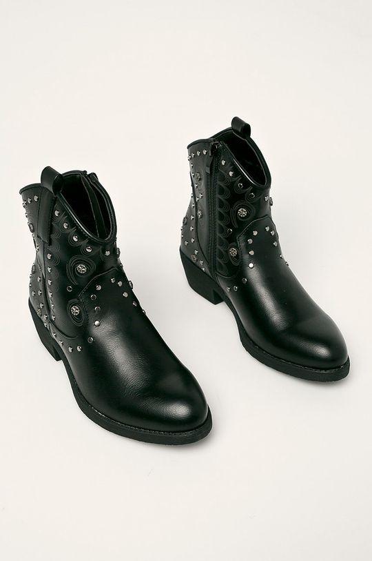Haily's - Kovbojské topánky čierna