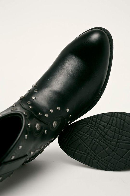 čierna Haily's - Kovbojské topánky