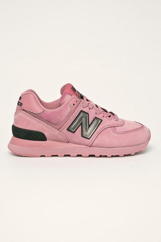 roz New Balance - Pantofi WL574LDJ De femei
