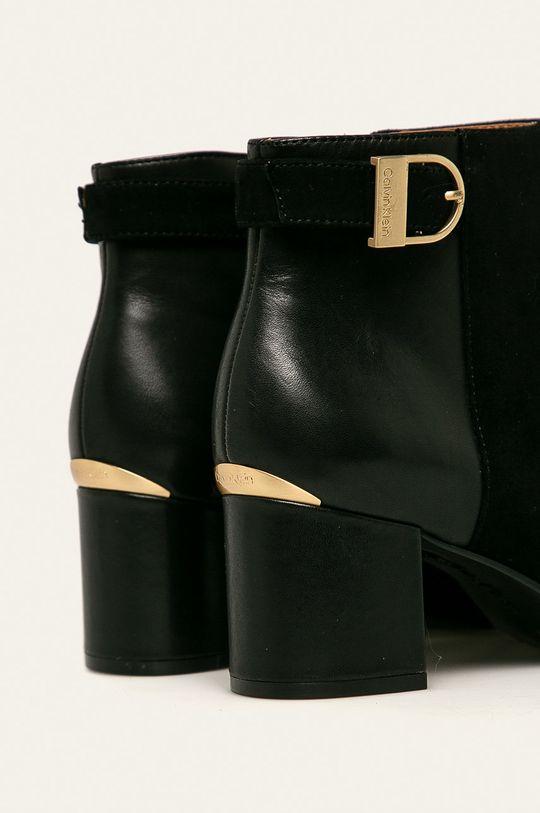 Calvin Klein - Kožené kotníkové boty Svršek: Přírodní kůže Vnitřek: Umělá hmota Podrážka: Umělá hmota