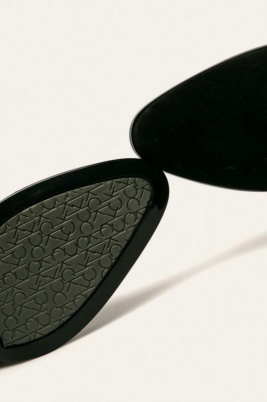 černá Calvin Klein - Kožené kotníkové boty